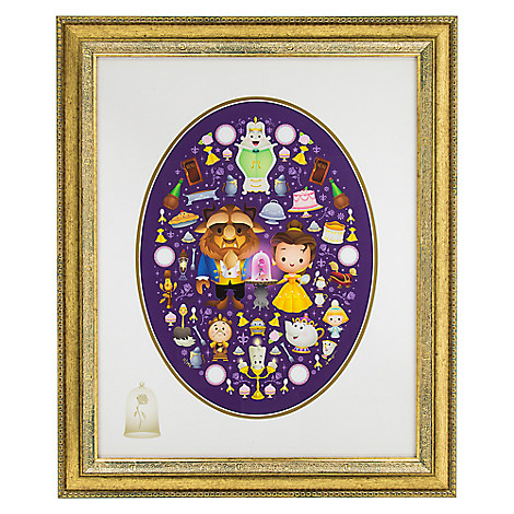 Beauty and the Beast ''Truly an Enchanted Rose'' Giclée by Jerrod Maruyama - Framed Limited Edition