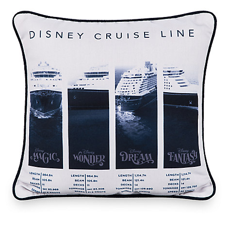Disney Cruise Line Souvenir Throw Pillow