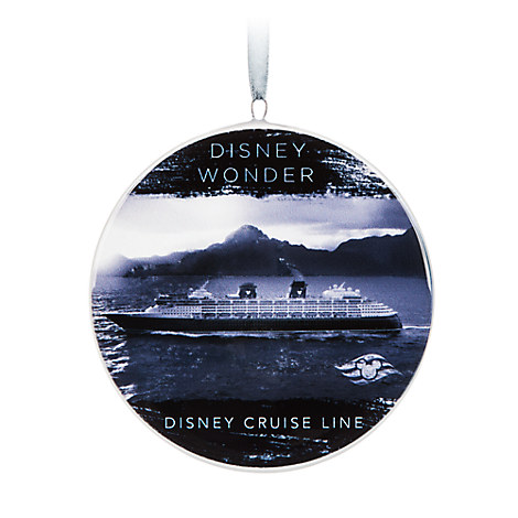 Disney Wonder Ceramic Ornament - Disney Cruise Line