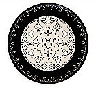 Mickey Mouse Icon Dinner Plate - Disney Dining Collection - Black / White