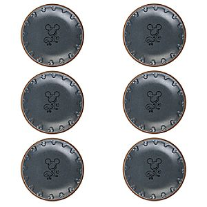 Mickey Mouse Icon Dinner Plate Set - Disney Kitchen - Gray / Tan 7509057370544P