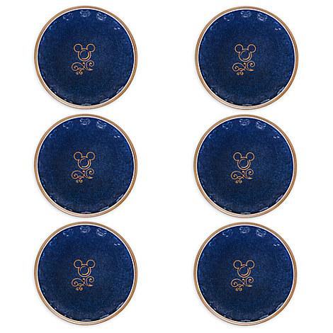 Mickey Mouse Icon Bowl Set - Disney Kitchen - Blue / Tan