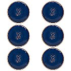 Mickey Mouse Icon Dinner Plate Set - Disney Dining Collection - Blue / Tan