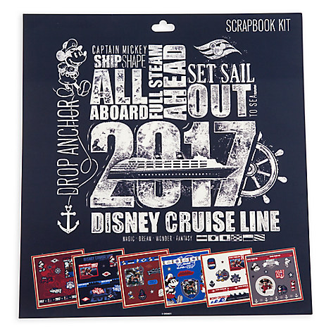 Mickey Mouse and Friends Scrapbook Kit - Disney Cruise Line 2017