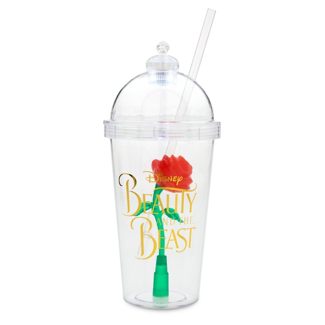 Enchanted Rose Light-Up Dome Tumbler with Straw – Beauty and the Beast