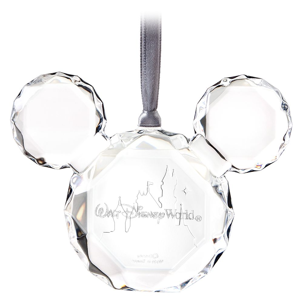 Mickey Mouse Icon Faceted Flat Ornament – Walt Disney World