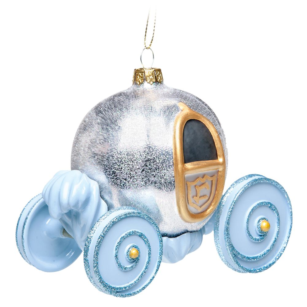 Cinderella Pumpkin Carriage Glass Ornament