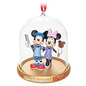 Mickey and Minnie Mouse Vacation Dome Ornament - Walt Disney World