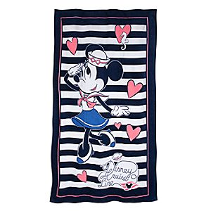 Sailor Minnie Mouse Beach Towel - Disney Cruise Line