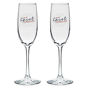 Epcot International Food and Wine Festival Flute Glasses – 2-Pc.