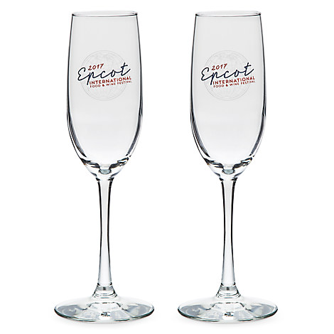 Epcot International Food and Wine Festival Flute Glasses - 2-Pc.