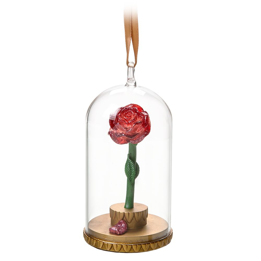 Beauty and the Beast Enchanted Rose Ornament Official shopDisney