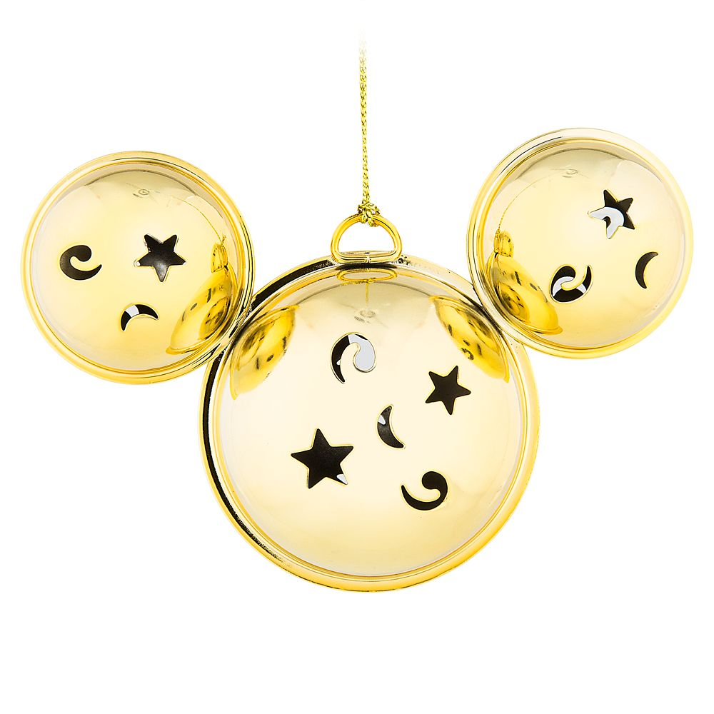 Mickey Mouse Bell Ornament – Gold