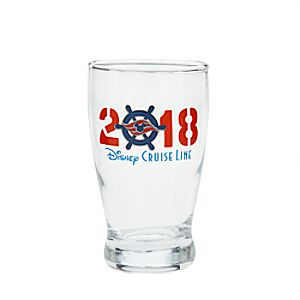Disney Cruise Line 2018 Mini Glass