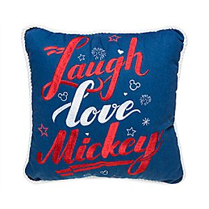 Mickey Mouse ''Laugh Love Mickey'' Throw Pillow