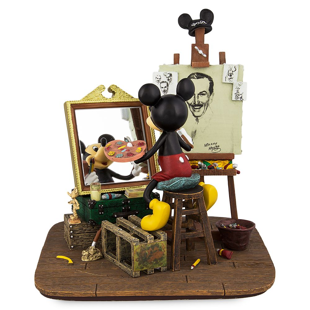 Mickey Mouse Self-Portrait Figurine Official shopDisney