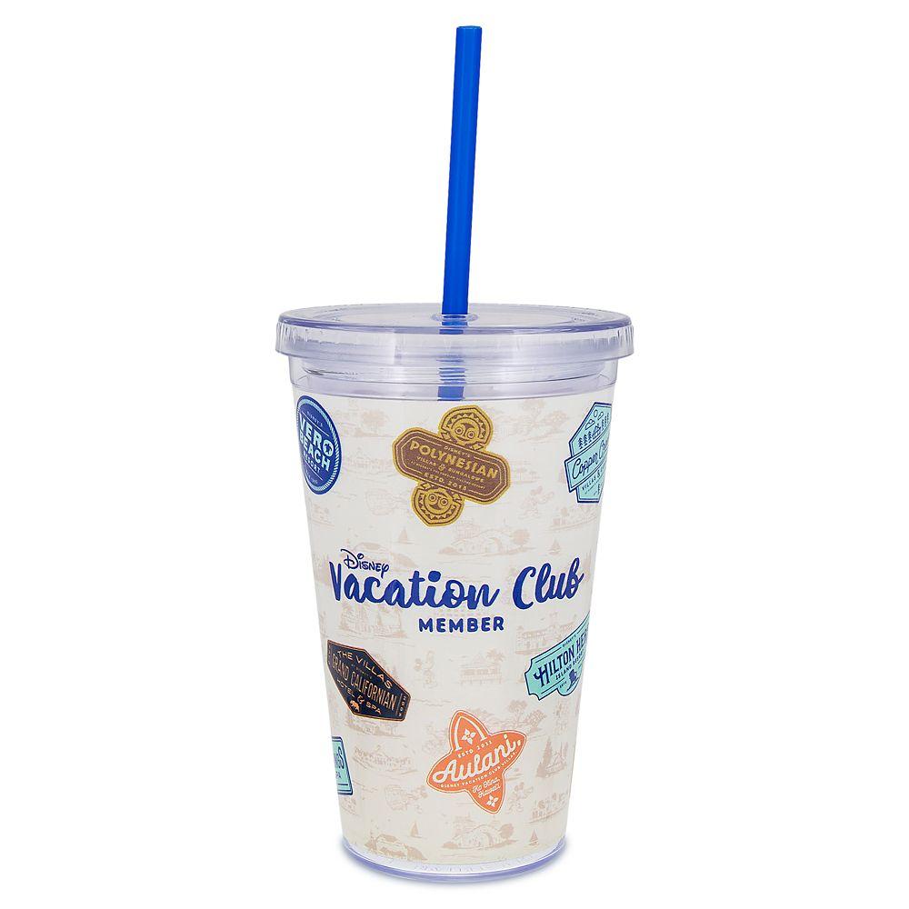 Disney Vacation Club Tumbler with Straw