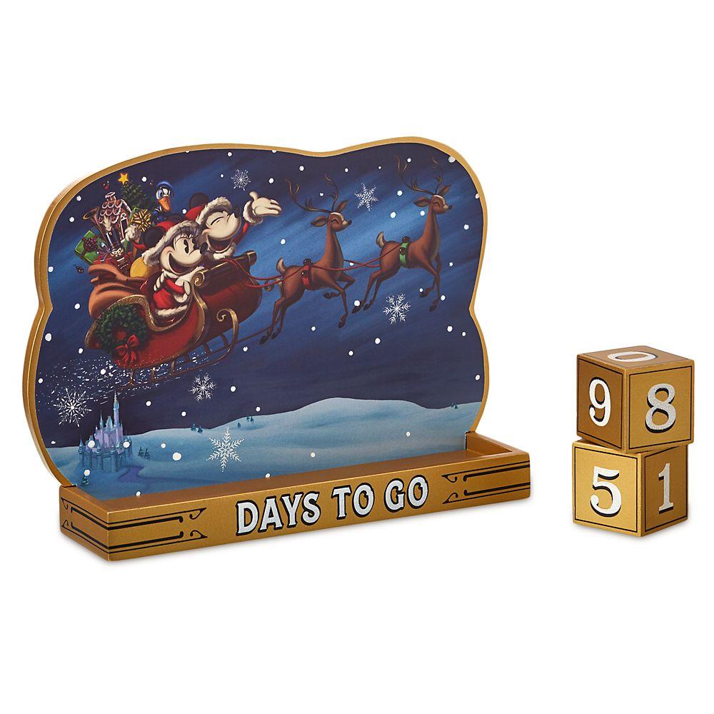 Santa Mickey and Minnie Mouse Holiday Countdown Calendar