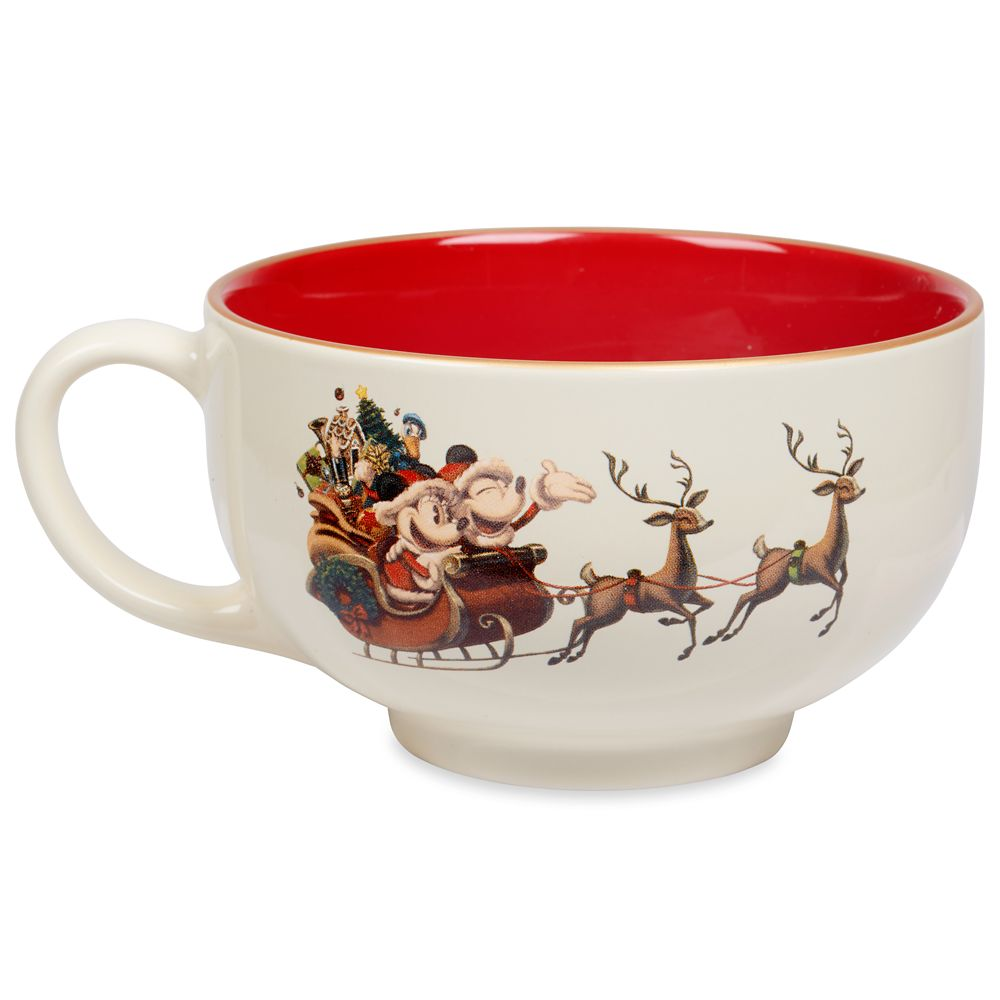 Santa Mickey and Minnie Mouse Holiday Mug Official shopDisney