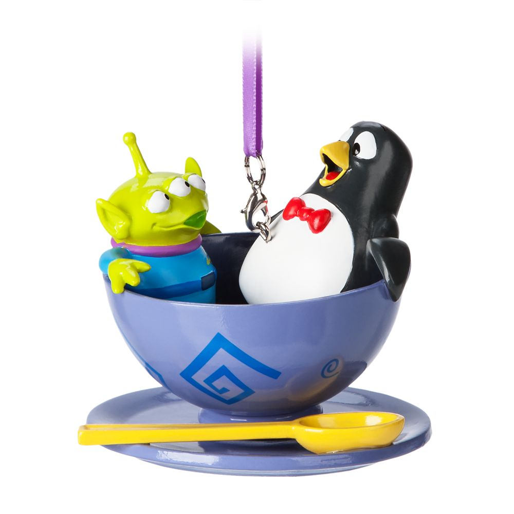 Toy Story Alien and Wheezy Spinning Teacup Ornament