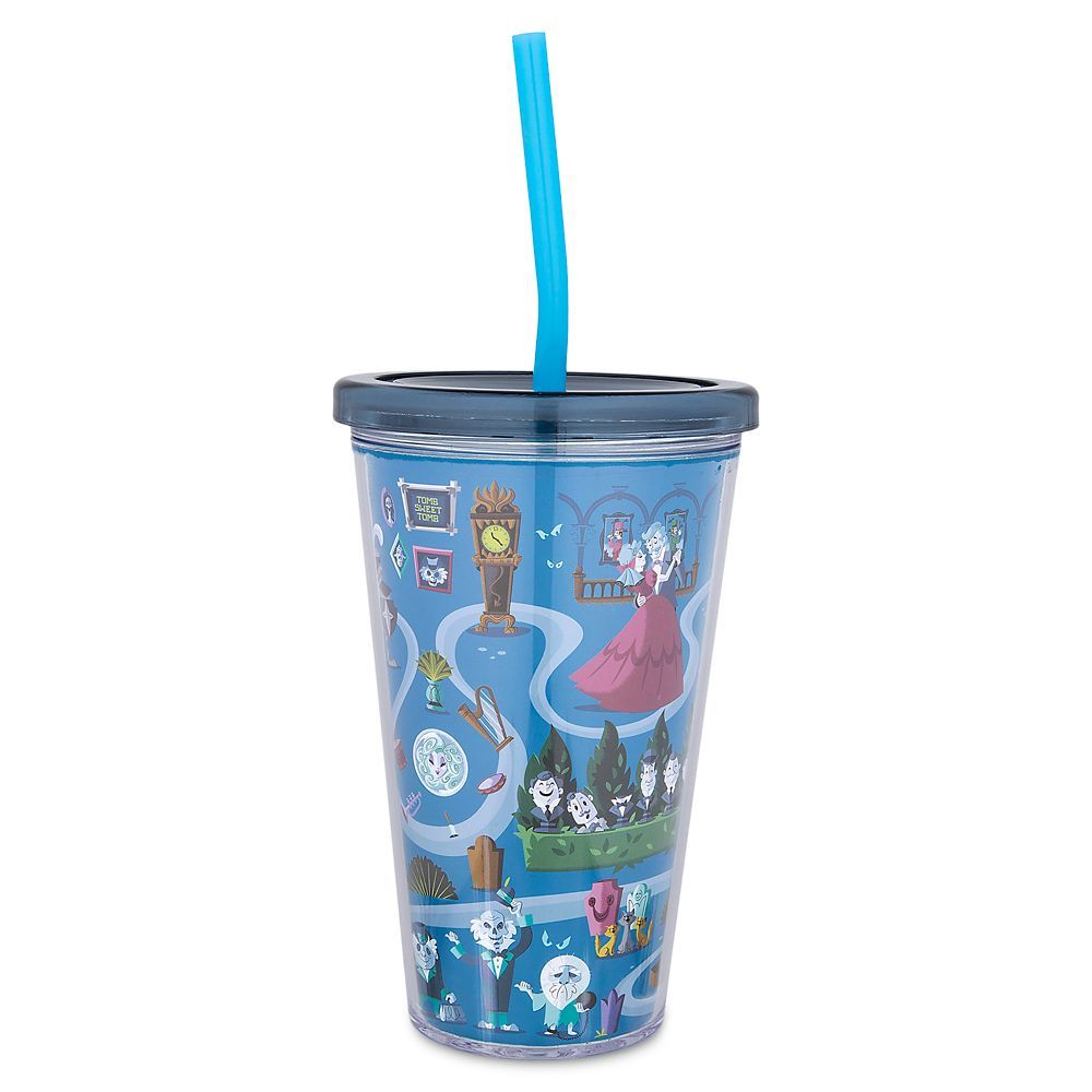 The Haunted Mansion Tumbler with Straw