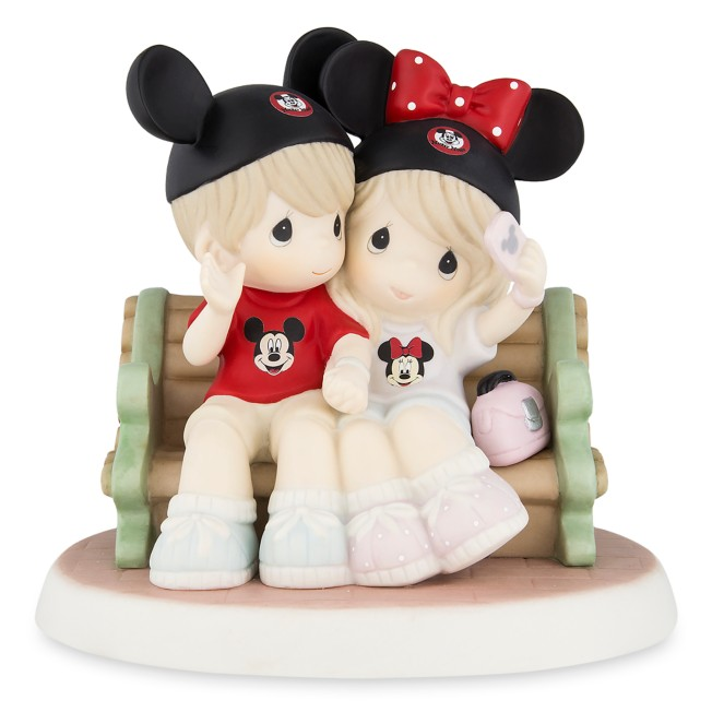 Mouseketeers on Park Bench Figure by Precious Moments