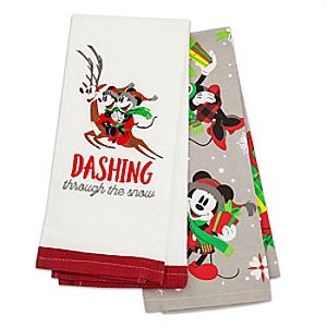 Santa Mickey Mouse and Friends Kitchen Towel Set
