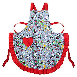 Santa Mickey Mouse and Friends Holiday Apron