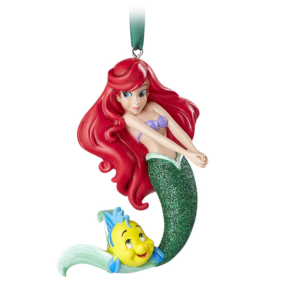 The Little Mermaid Disney Parks Ariel with Flounder Ornament