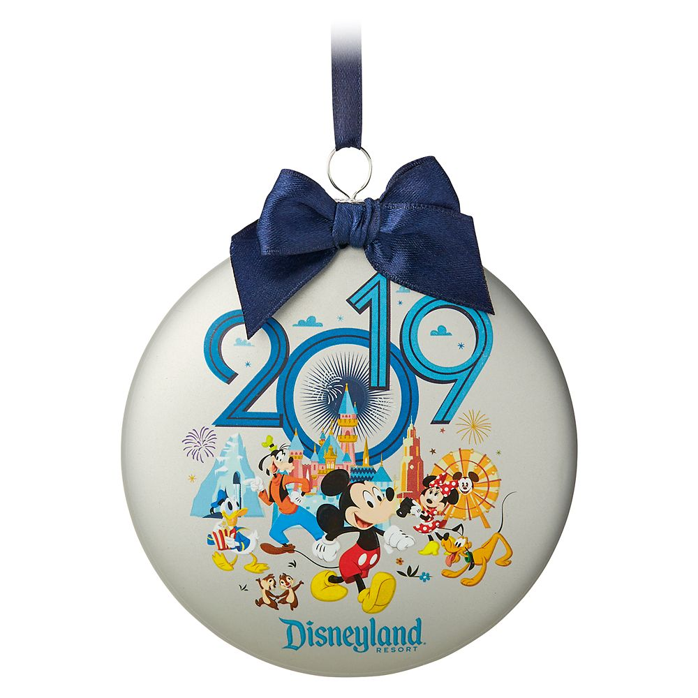 Mickey Mouse and Friends Glass Disk Ornament – Disneyland 2019