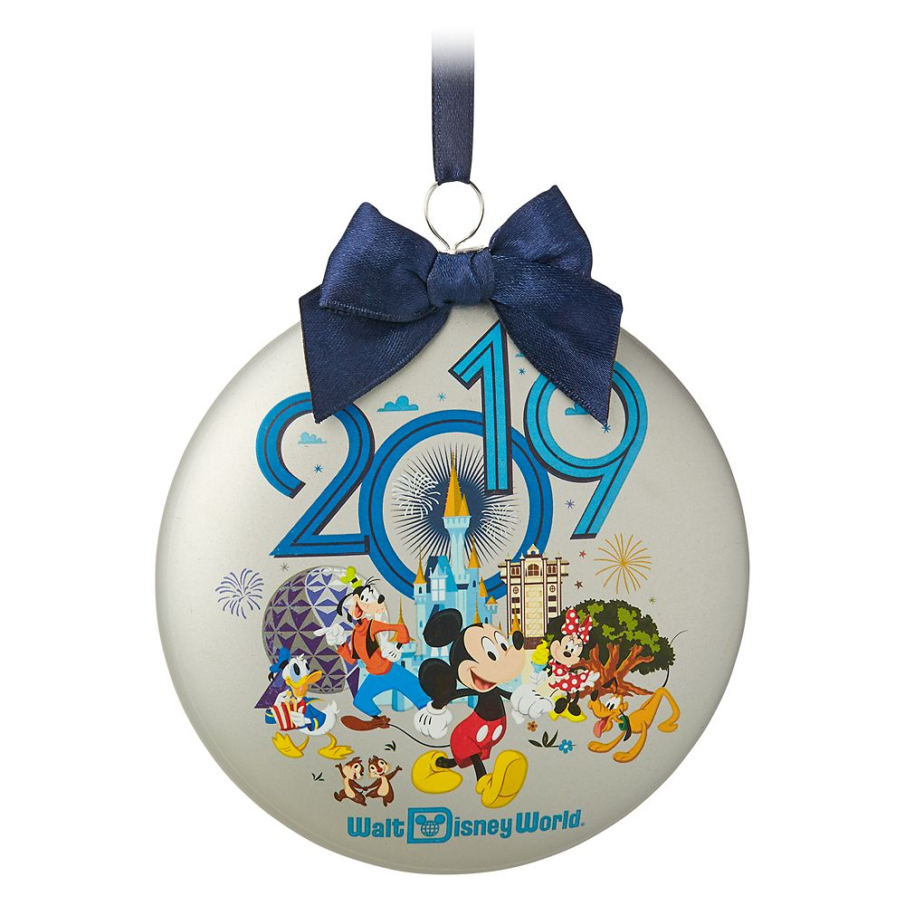 Mickey Mouse and Friends Glass Disk Ornament – Walt Disney World 2019