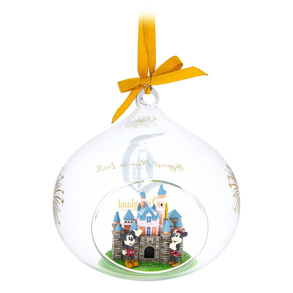 Sleeping Beauty Castle Glass Drop Ornament – Disneyland
