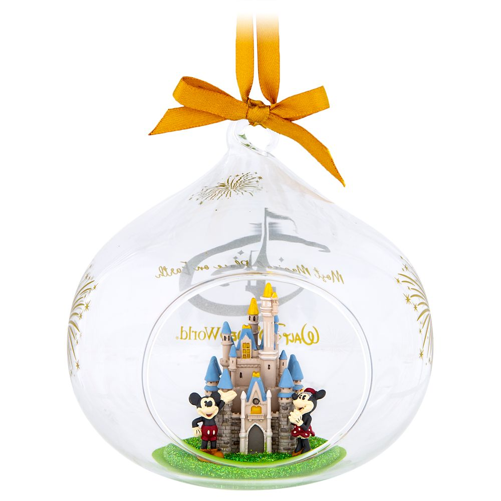 Cinderella Castle Glass Drop Ornament – Walt Disney World