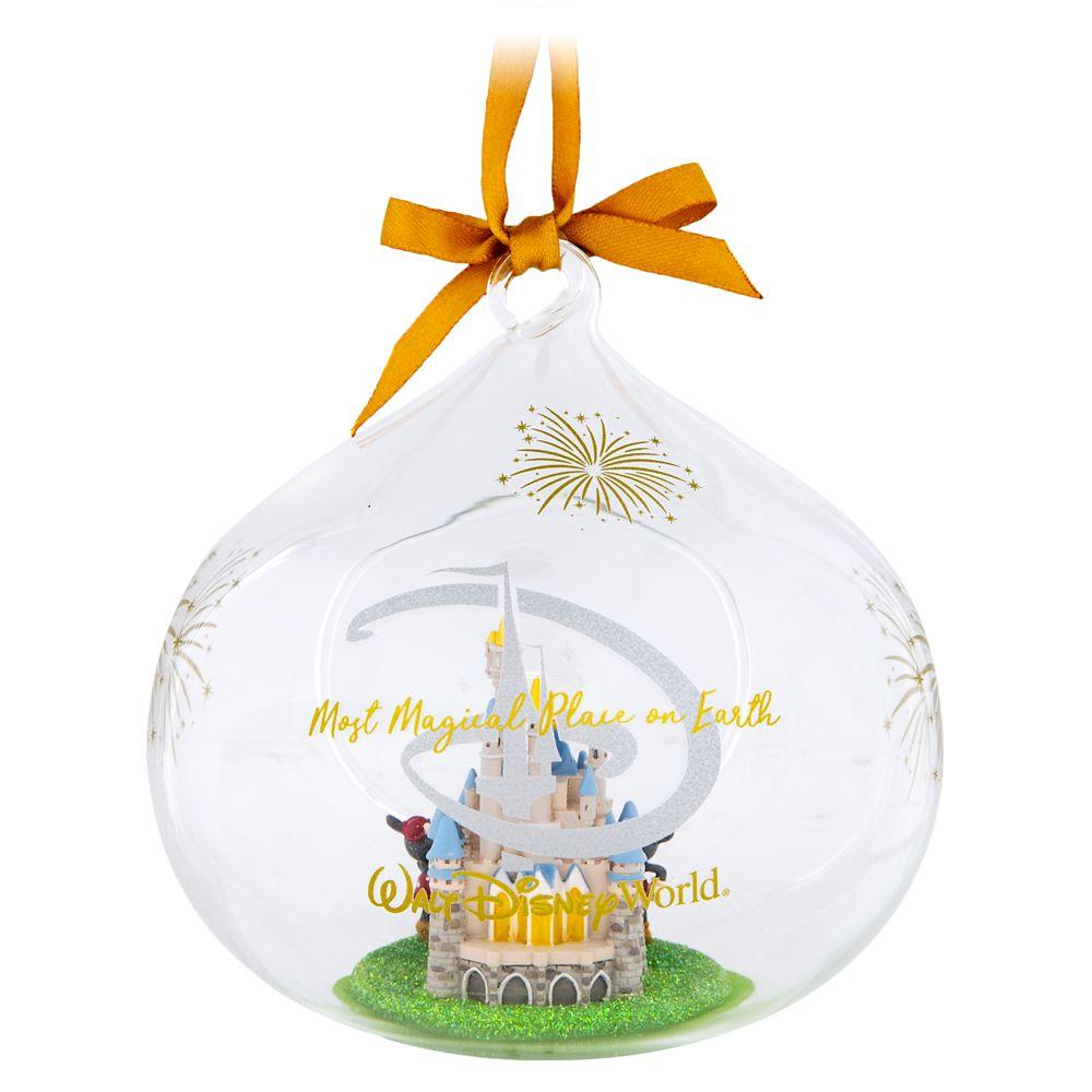 Cinderella Castle Glass Drop Ornament – Walt Disney World