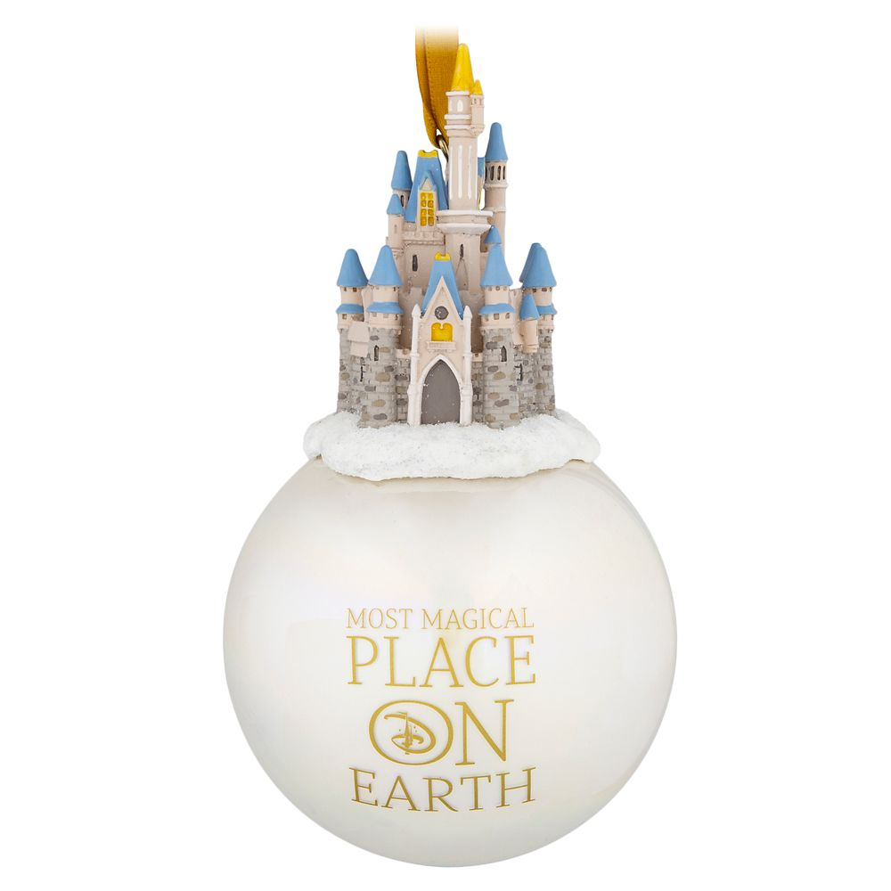 Cinderella Castle Globe Ornament – Walt Disney World