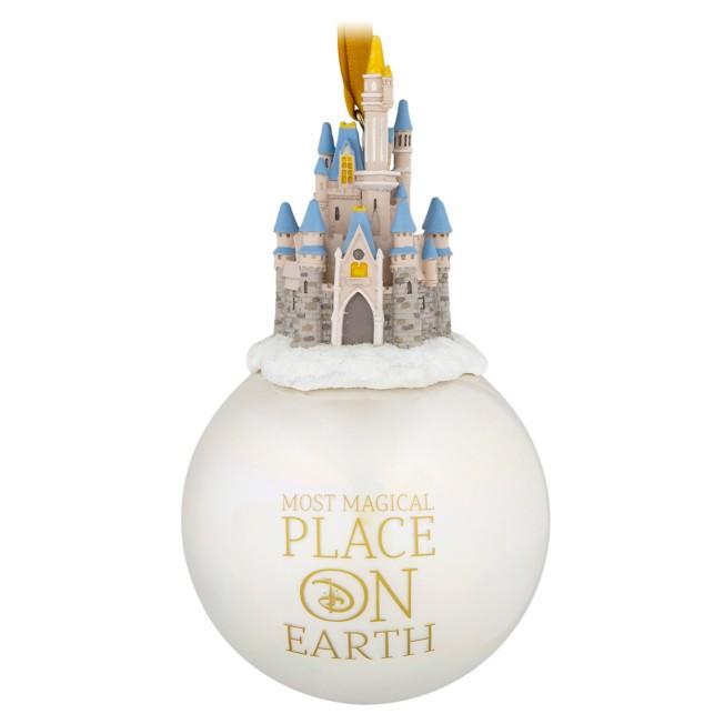 Cinderella Castle Globe Ornament – Walt Disney World
