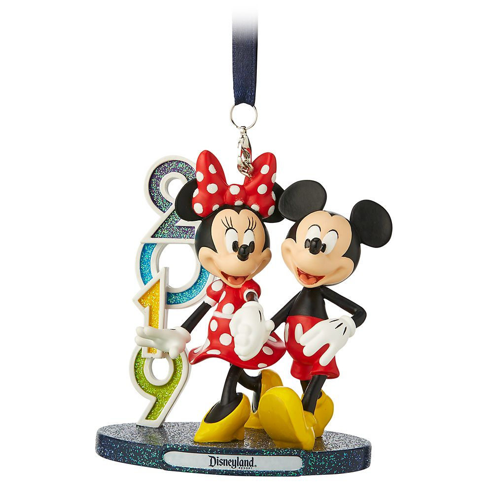 Mickey and Minnie Mouse Figural Ornament – Disneyland 2019