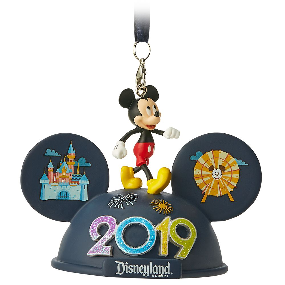 Mickey Mouse Light-Up Ear Hat Ornament – Disneyland 2019
