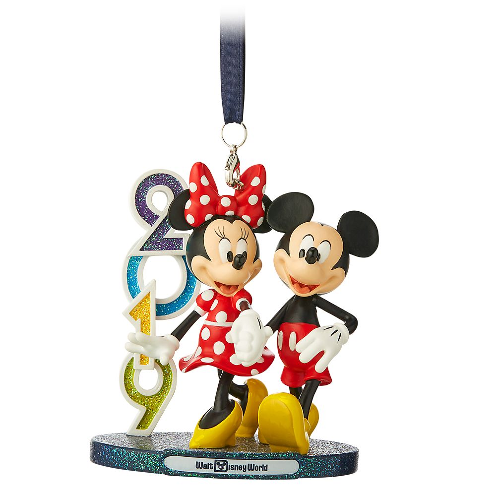 Mickey and Minnie Mouse Figural Ornament – Walt Disney World 2019