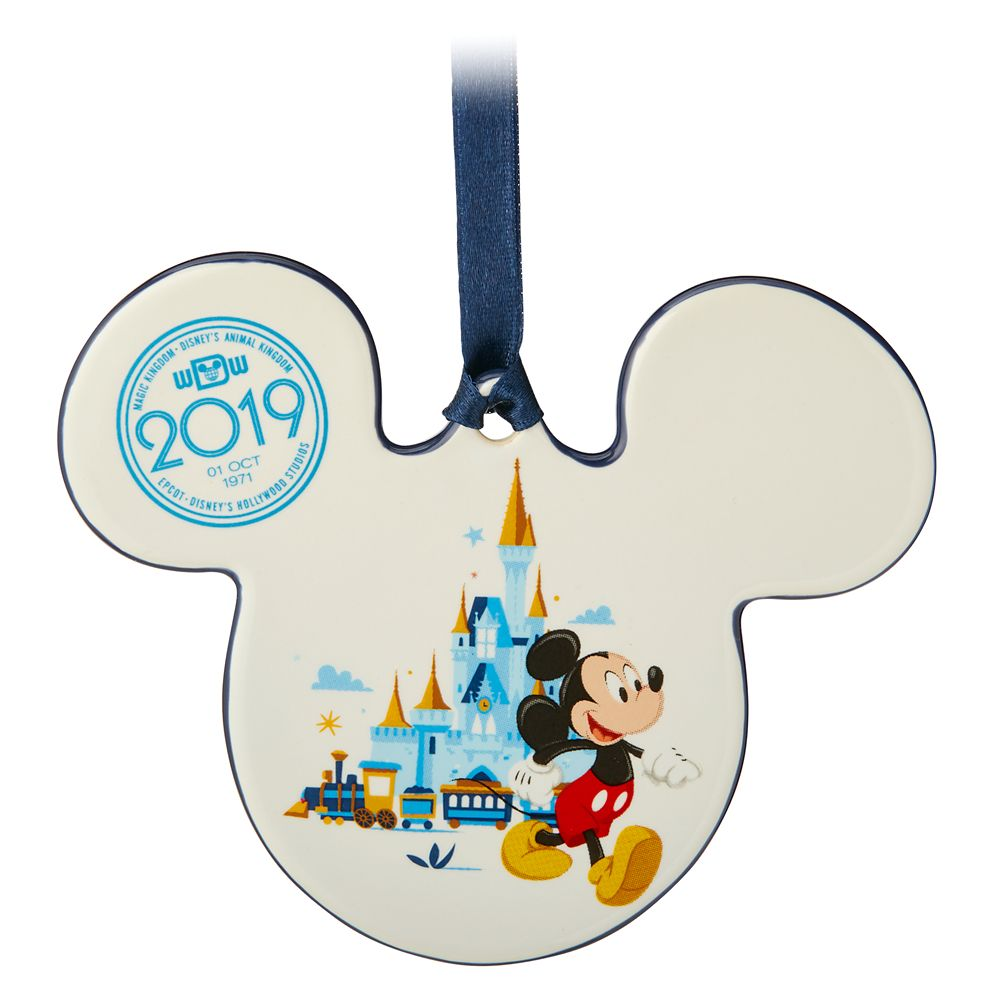 Mickey and Minnie Mouse Icon Ceramic Ornament – Walt Disney World 2019
