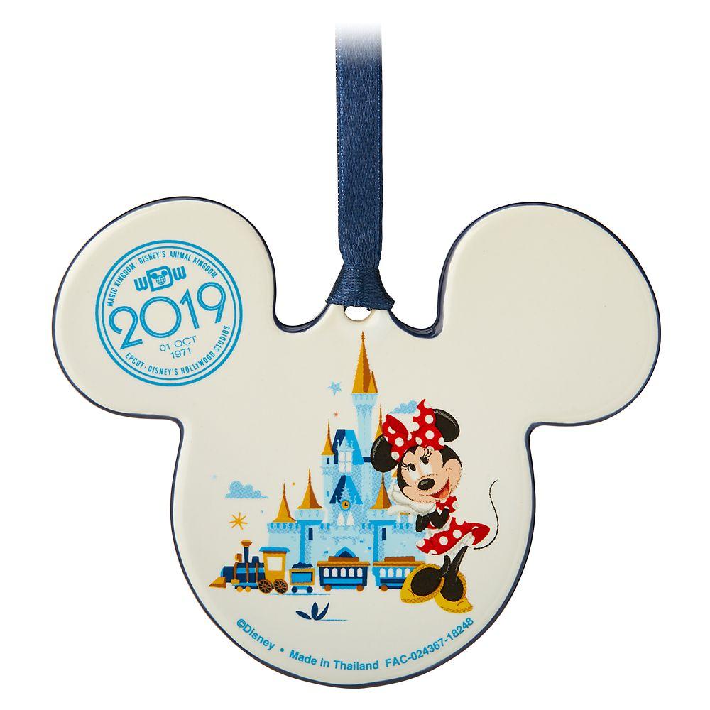 Mickey and Minnie Mouse Icon Ceramic Ornament – Walt Disney World 2019
