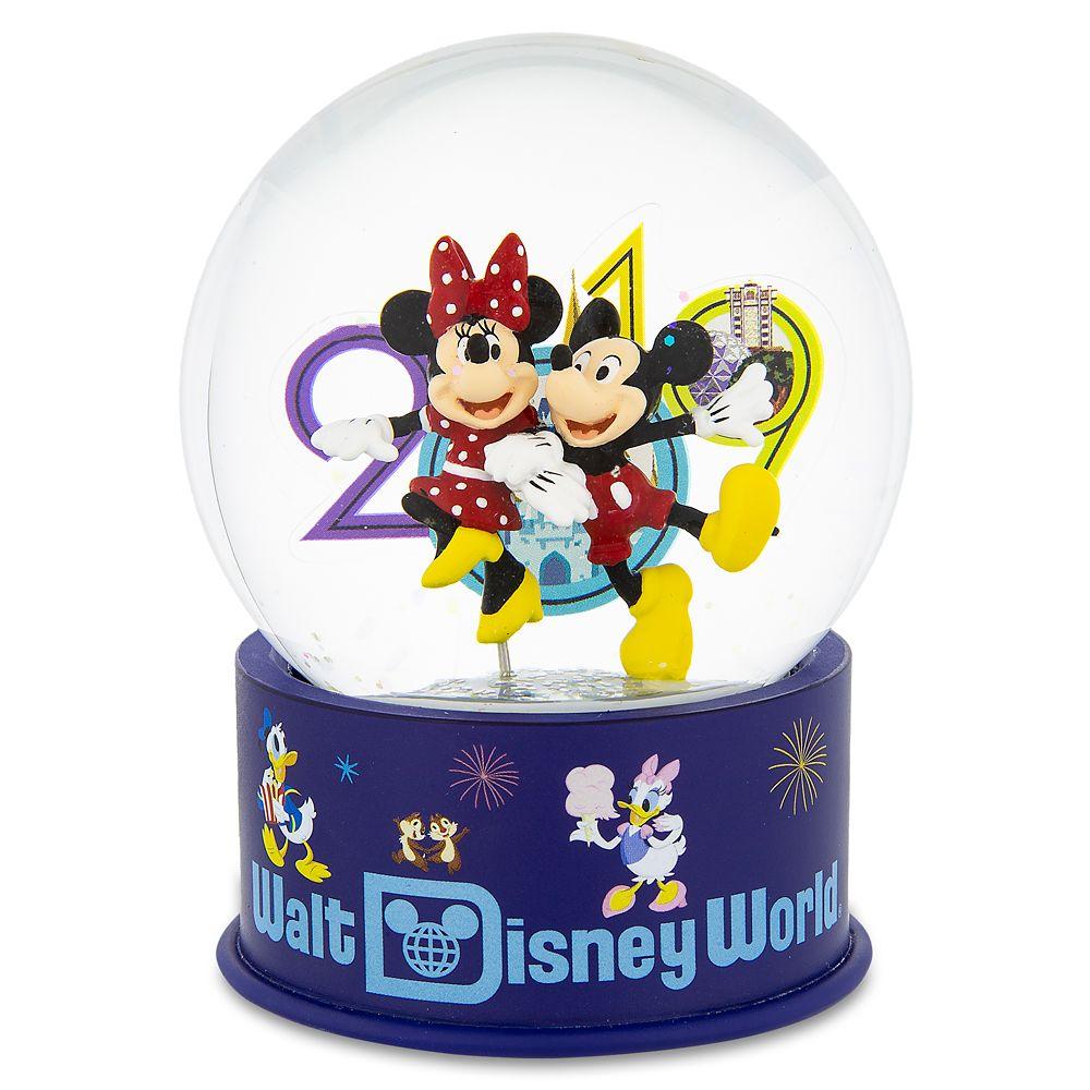 Mickey and Minnie Mouse Mini Snowglobe  Walt Disney World 2019