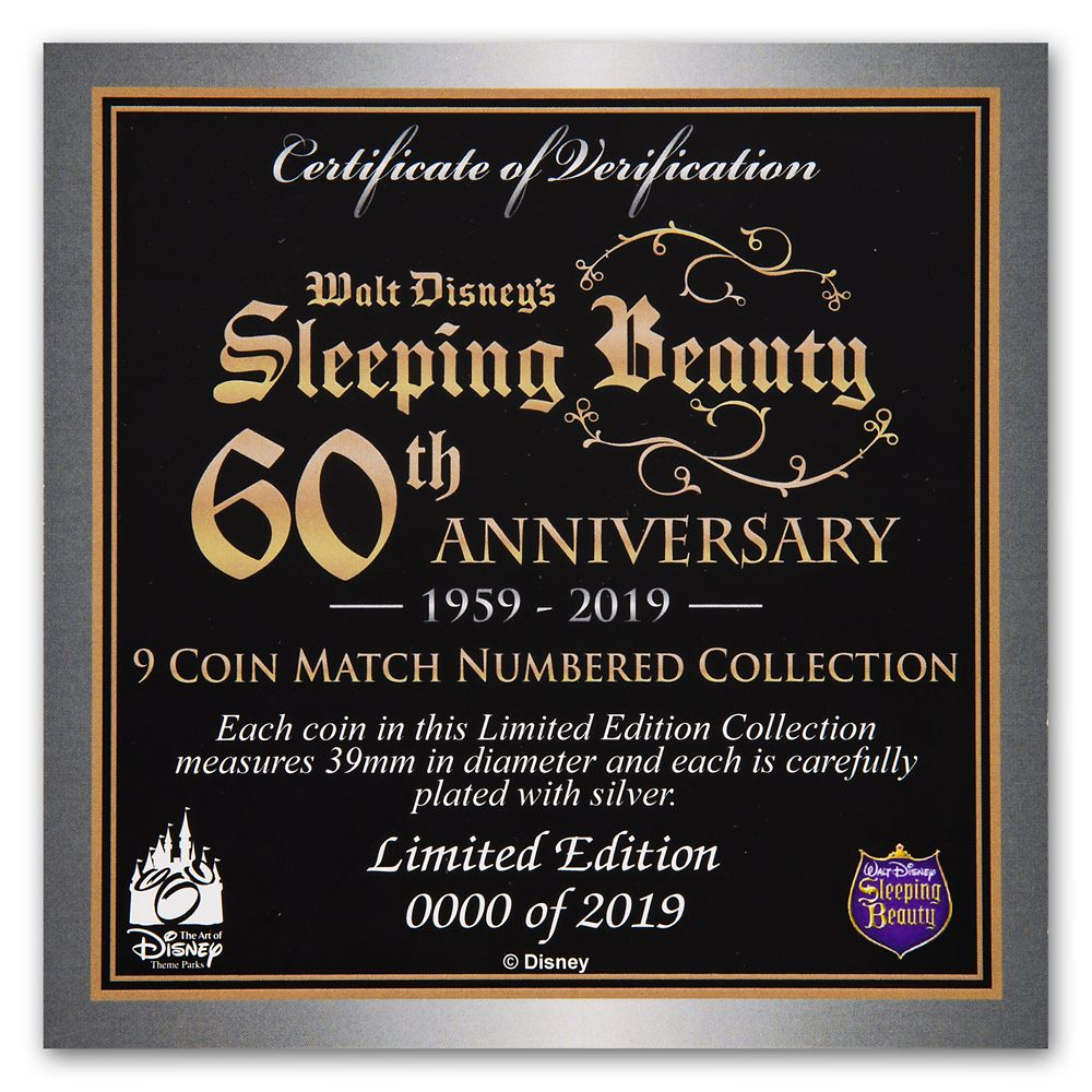 Sleeping Beauty Coin Set – 60th Anniversary – Limited Edition