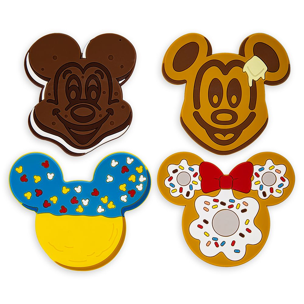 Disney Parks Food Icons Coaster Set
