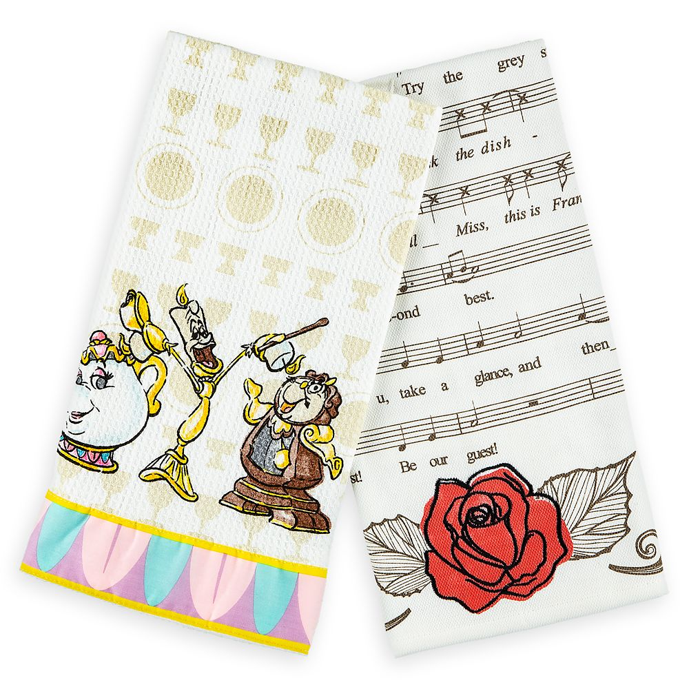 Be Our Guest Kitchen Towel Set Official shopDisney