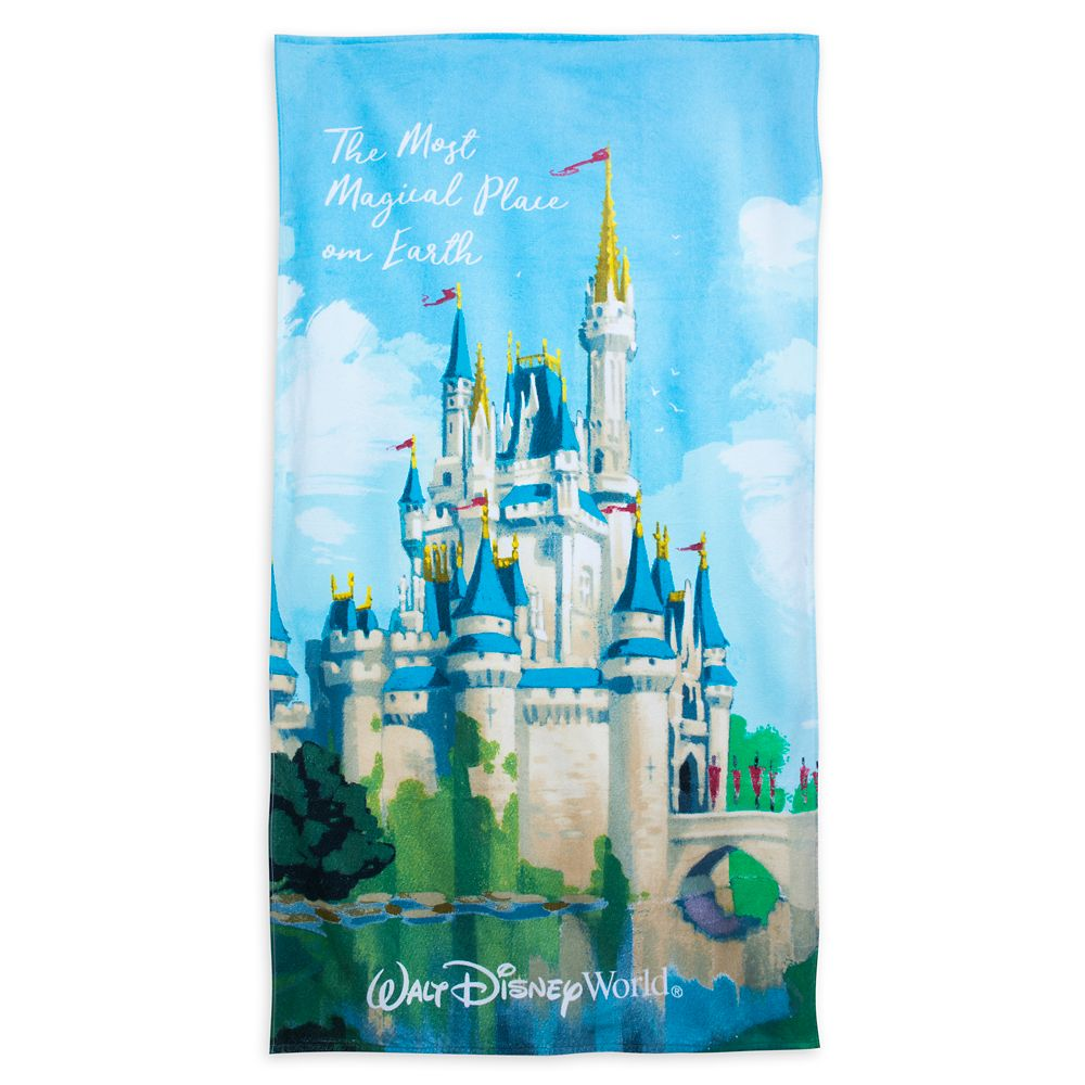 Cinderella Castle Beach Towel – Walt Disney World