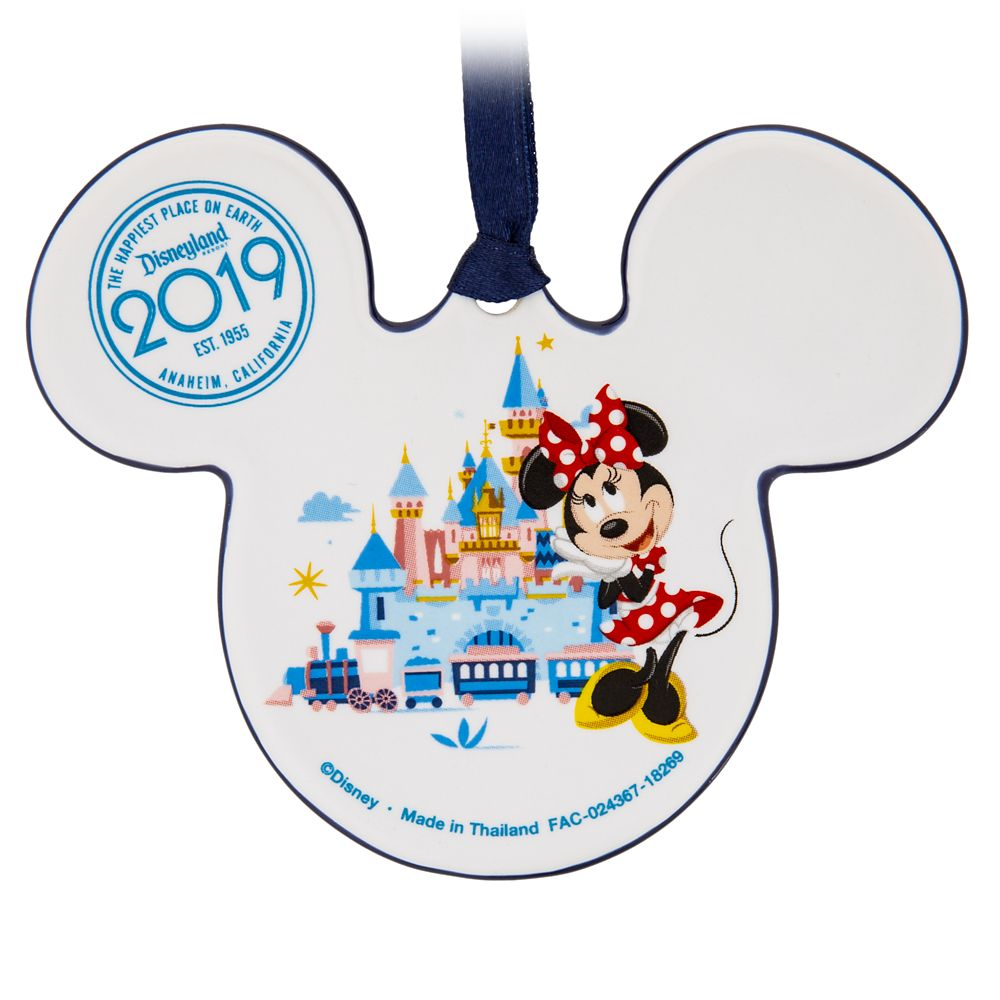 Mickey and Minnie Mouse Icon Ceramic Ornament – Disneyland 2019