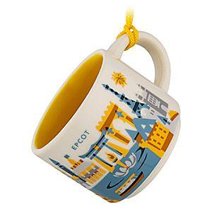 Epcot Starbucks YOU ARE HERE Mug Ornament