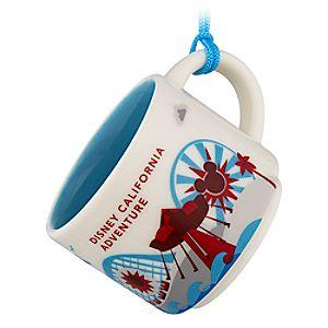 Disney California Adventure Starbucks YOU ARE HERE Mug Ornament