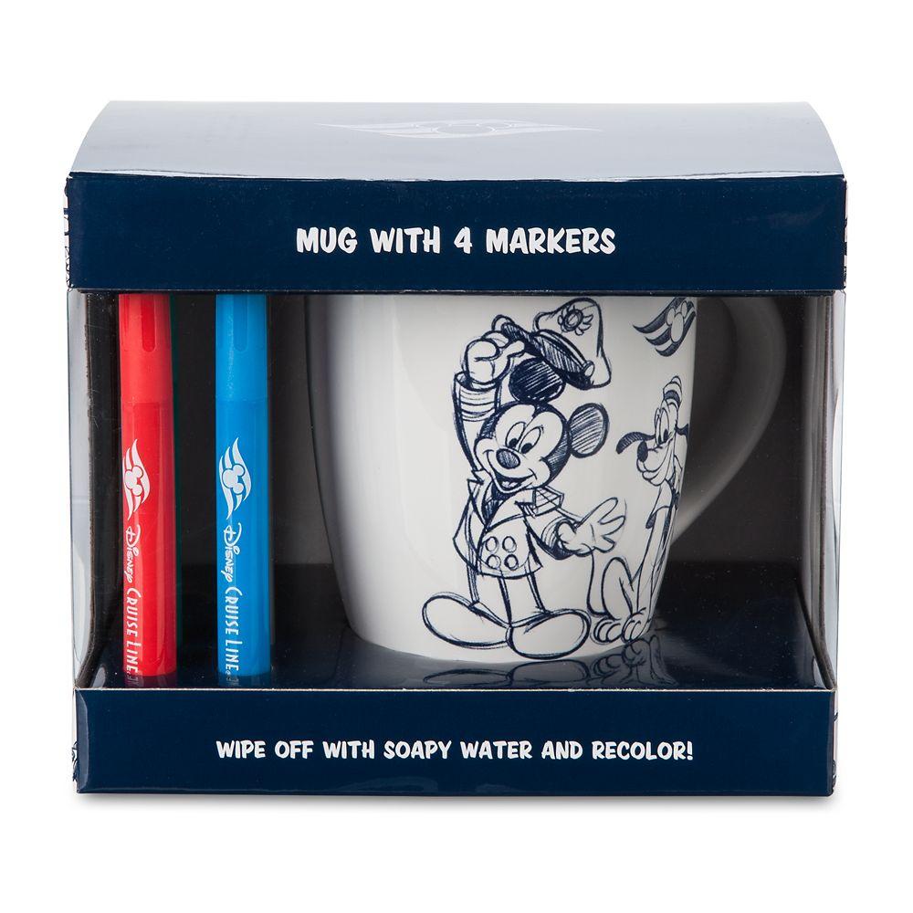 Disney Cruise Line Mug and Marker Set